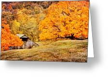 Tennessee Autumn Barn Greeting Card by Cheryl Davis