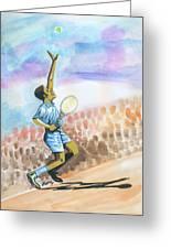 Tennis 02 Greeting Card by Emmanuel Baliyanga
