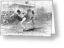 Tennis: Wimbledon, 1880 Greeting Card by Granger