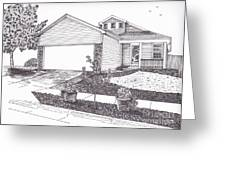 Teresa's House Greeting Card by Michelle Welles