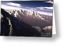 Terragen Render Of Kitt Peak, Arizona Greeting Card by Rhys Taylor