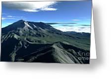 Terragen Render Of Mt. St. Helens Greeting Card by Rhys Taylor