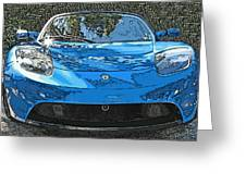 Tesla Roadster Electric Sports Car Greeting Card by Samuel Sheats