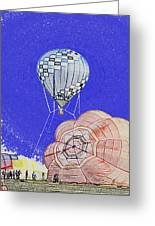 Tethered Hot Air Balloon Greeting Card by Thomas Woolworth