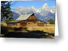 Teton Barn 4 Greeting Card by Marty Koch