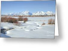 Teton Snow Greeting Card by Idaho Scenic Images Linda Lantzy