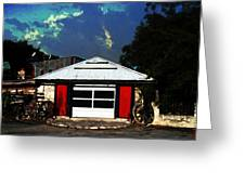 Texas Garage Greeting Card by Kelly Rader