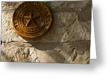 Texas State Seal Greeting Card by Michael Flood