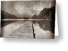 Textured lake Greeting Card by BERNARD JAUBERT
