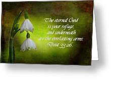 Textured Snowdrop Print Greeting Card by Blair Wainman