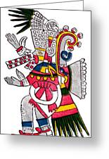 Tezcatlipoca, Aztec God Of Night, Codex Greeting Card by Photo Researchers