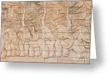 Thai style handcraft of elephant Greeting Card by Phalakon Jaisangat