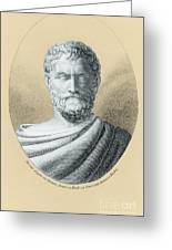 Thales, Ancient Greek Philosopher Greeting Card by Photo Researchers, Inc.