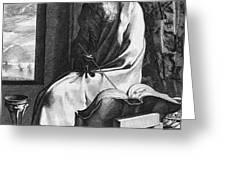 Thales Of Miletus, Greek Polymath Greeting Card by Science Source