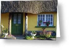 Thatched Cottage, Adare, Co Limerick Greeting Card by The Irish Image Collection