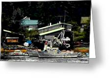 The Alaskan Fisherman's Home Greeting Card by Mindy Newman