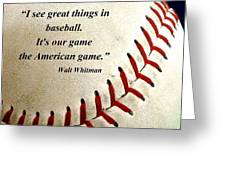 The American Game Greeting Card by Christopher Kerby