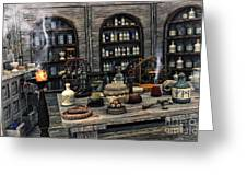 The Apothecary Greeting Card by Jutta Maria Pusl
