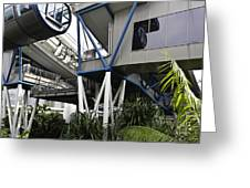 The Area Below The Capsules Of The Singapore Flyer Greeting Card by Ashish Agarwal