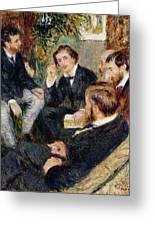 The Artist's Studio Rue Saint Georges Greeting Card by Pierre Auguste Renoir
