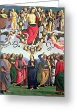The Ascension Of Christ Greeting Card by Pietro Perugino
