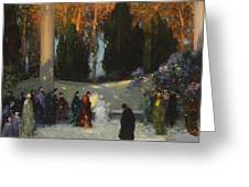 The Audience Greeting Card by TE Mostyn