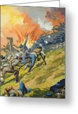 The Battle Of Gettysburg Greeting Card by Severino Baraldi