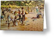 The Beach Greeting Card by Nisty Wizy