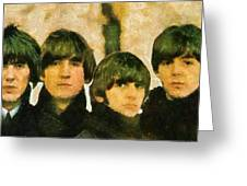 The Beatles Greeting Card by Riccardo Zullian