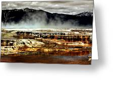 The Beauty Of Yellowstone Greeting Card by Ellen Heaverlo