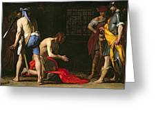 The Beheading Of John The Baptist Greeting Card by Massimo Stanzione