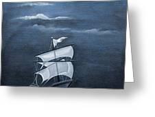 The Black Pearl Greeting Card by Rajeev M Krishnan
