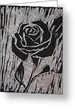 The Black Rose Greeting Card by Marita McVeigh