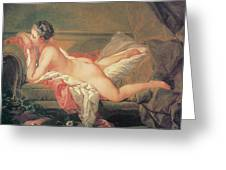 The Blonde Odalisque Greeting Card by Francois Boucher