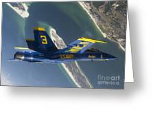 The Blue Angels Perform A Looping Greeting Card by Stocktrek Images