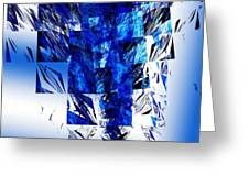 The Blue Chandelier Greeting Card by Andee Design