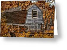 The Boathouse At The Manse Greeting Card by Tricia Marchlik