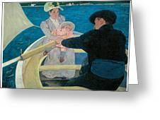 The Boating Party Greeting Card by Mary Cassatt