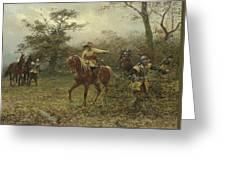 The Boscobel Oak Greeting Card by Earnest Crofts
