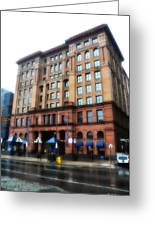 The Bourse Building Philadelphia Greeting Card by Bill Cannon