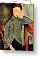 The Boy Greeting Card by Amedeo Modigliani