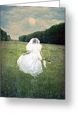 The Bride Greeting Card by Joana Kruse