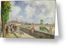 The Bridge At Pontoise Greeting Card by Camille Pissarro