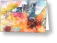 The Bridge On Planet Goodaboom Greeting Card by Miki De Goodaboom