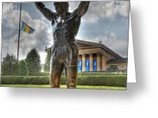 The Bronze Stallion - Rocky Balboa - Philadelphia - Pennsylvania - Rocky Steps Greeting Card by Lee Dos Santos