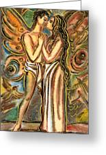 The Butterfly Kiss Greeting Card by Vasile Movileanu