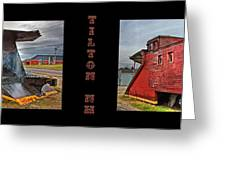 The Caboose Greeting Card by Joann Vitali