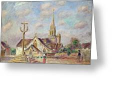 The Calvary At Pont Aven Greeting Card by Pierre Auguste Renoir