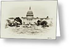 The Capital Bulding Greeting Card by Bill Cannon