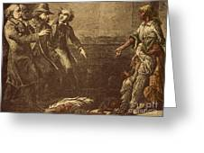 The Capture Of Margaret Garner Greeting Card by Photo Researchers
